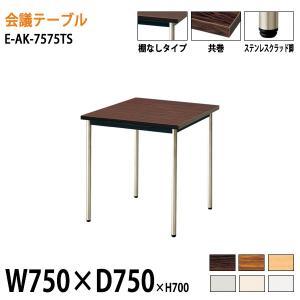 会議テーブル E-AKシリーズ  サイズ:W750×D750×H700mm   ●天板/表面材:メラ...