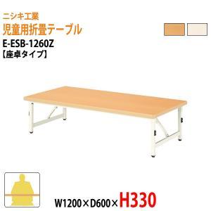 子供用折りたたみテーブル E-ESB-1260Z W1200×D600×H330mm 座卓タイプ 幼稚園 保育園 保育所 学童 児童施設 子供 学校 長机|gadget-tack
