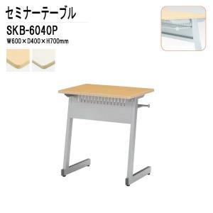 研修・講義・塾用テーブル カバン掛用フック付 SKB-604...