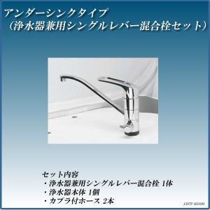 浄水器 カウンター据置きタイプ 浄水器兼用シングルレバー混合栓210型セット 磨水IV J207P-B210M|gadget