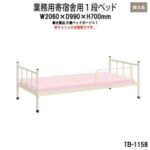 業務用 寄宿舎用 1段ベッド TB-1158 公共機関・官庁などに。 幅広く使える寄宿舎用ベッドです...