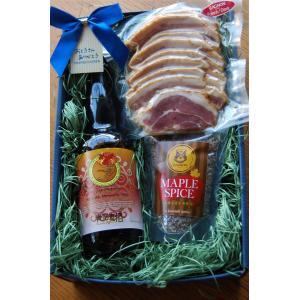 2021年6月15日以降発送 父の日セット【期間限定!】メープルビール&メープルベーコン150gセット|gagnon-maple