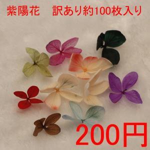 訳あり♪紫陽花 30輪約100枚入り|gaikicraft