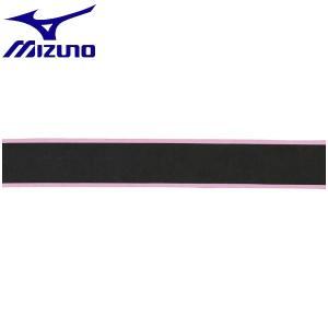 ◆◆送料無料 メール便発送 <ミズノ> MIZUNO グリップテープ(ストライププリント) 63JYA841 (60:ブラック×ピンク) テニス バドミントン|gainabazar