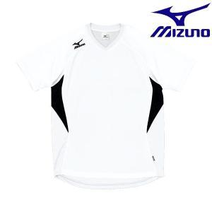 ◆◆送料無料 メール便発送 <ミズノ> MIZUNO ゲームシャツ(ドッジボール) A62HY144 (01:ホワイト×ブラック)|gainabazar