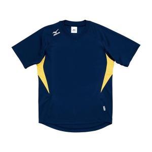 ◆◆送料無料 メール便発送 <ミズノ> MIZUNO ゲームシャツ(ドッジボール) A62HY144 (14:ネイビー×イエロー)|gainabazar
