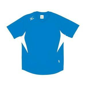 ◆◆送料無料 メール便発送 <ミズノ> MIZUNO ゲームシャツ(ドッジボール) A62HY144 (18:D.サックス×ホワイト)|gainabazar