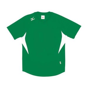 ◆◆送料無料 メール便発送 <ミズノ> MIZUNO ゲームシャツ(ドッジボール) A62HY144 (30:S.グリーン×ホワイト)|gainabazar