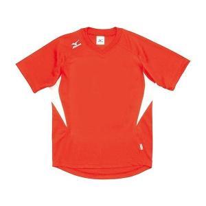 ◆◆送料無料 メール便発送 <ミズノ> MIZUNO ゲームシャツ(ドッジボール) A62HY144 (55:オレンジ×ホワイト)|gainabazar