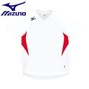 ◆◆送料無料 メール便発送 <ミズノ> MIZUNO ゲームシャツ(ドッジボール) A62HY144 (81:ホワイト×レッド)|gainabazar