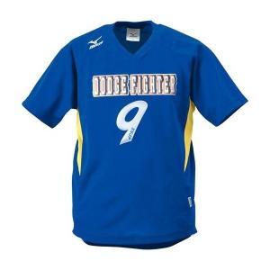 ◆◆送料無料 メール便発送 <ミズノ> MIZUNO ゲームシャツ(ドッジボール) A62HY144 (84:ブルー×イエロー)|gainabazar