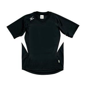 ◆◆送料無料 メール便発送 <ミズノ> MIZUNO ゲームシャツ(ドッジボール) A62HY144 (90:ブラック×ホワイト)|gainabazar
