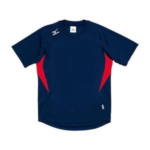 ◆◆送料無料 メール便発送 <ミズノ> MIZUNO ゲームシャツ(ドッジボール) A62HY144 (94:ネイビー×レッド)|gainabazar