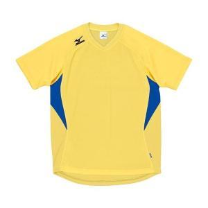 ◆◆送料無料 メール便発送 <ミズノ> MIZUNO ゲームシャツ(ドッジボール) A62HY144 (96:イエロー×ブルー)|gainabazar