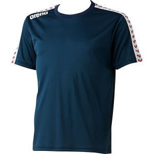 ◆◆○送料無料 メール便発送 <アリーナ> ARENA チームラインTシャツ ARN6331-DNY(arn6331-dny-are1)|gainabazar