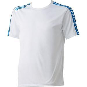 ◆◆○送料無料 メール便発送 <アリーナ> ARENA チームラインTシャツホワイト ARN6331-WHT(arn6331-wht-are1)|gainabazar