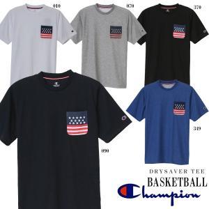 即納可★ 【CHAMPION】チャンピオン DRYSAVER (ドライセーバー) Tシャツ 半袖 バスケットボール メンズ(c3-hs331-16skn)|gainabazar