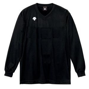 ◆◆○ <デサント> DESCENTE バレーボール V首長袖ゲームシャツ(ユニセックス) ブラック DSS4311-BLK(dss4311-blk-des1)|gainabazar