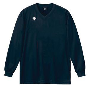 ◆◆○ <デサント> DESCENTE バレーボール V首長袖ゲームシャツ(ユニセックス) ネイビー DSS4311-NVY(dss4311-nvy-des1)|gainabazar