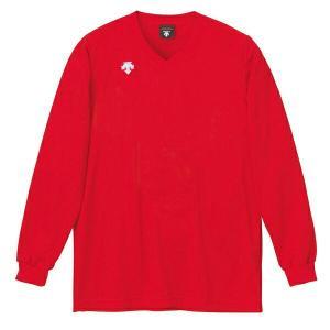 ◆◆○ <デサント> DESCENTE バレーボール V首長袖ゲームシャツ(ユニセックス) レッド DSS4311-RED(dss4311-red-des1)|gainabazar