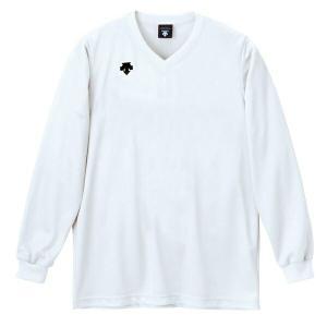 ◆◆○ <デサント> DESCENTE バレーボール V首長袖ゲームシャツ(ユニセックス) ホワイト DSS4311-WHT(dss4311-wht-des1)|gainabazar