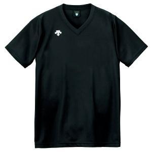 ◆◆○送料無料 メール便発送 <デサント> DESCENTE バレーボール V首半袖ゲームシャツ(ユニセックス) ブラック DSS4321-BLK(dss4321-blk-des1)|gainabazar