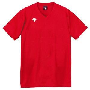 ◆◆○送料無料 メール便発送 <デサント> DESCENTE バレーボール V首半袖ゲームシャツ(ユニセックス) レッド DSS4321-RED(dss4321-red-des1)|gainabazar