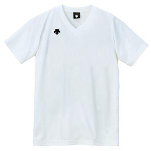 ◆◆○送料無料 メール便発送 <デサント> DESCENTE バレーボール V首半袖ゲームシャツ(ユニセックス) ホワイト DSS4321-WHT(dss4321-wht-des1)|gainabazar