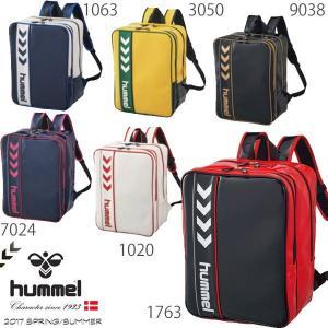 即納可★ 【hummel】ヒュンメル エナメルバックパック サッカー フットサル バッグ(hfb6064-16skn)|gainabazar