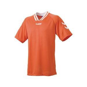 ◆◆送料無料 メール便発送 <ヒュンメル> HUMMEL HJG3001 ジュニア半袖ゲームシャツ(35:オレンジ×ホワイト) ヒュンメル ゲームシャツ(hjg3001-35|gainabazar