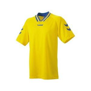 ◆◆送料無料 メール便発送 <ヒュンメル> HUMMEL HJG3001 ジュニア半袖ゲームシャツ(36:イエロー×ロイヤルブルー) ヒュンメル ゲームシャツ(hjg3|gainabazar