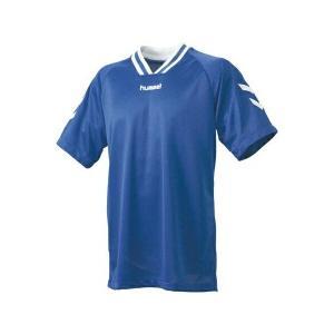 ◆◆送料無料 メール便発送 <ヒュンメル> HUMMEL HJG3001 ジュニア半袖ゲームシャツ(63:ロイヤルブルー×ホワイト) ヒュンメル ゲームシャツ(hjg3|gainabazar