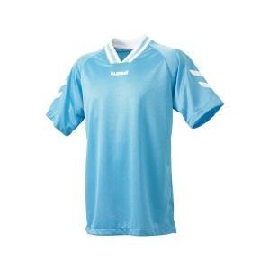 ◆◆送料無料 メール便発送 <ヒュンメル> HUMMEL HJG3001 ジュニア半袖ゲームシャツ(75:サックス×ホワイト) ヒュンメル ゲームシャツ(hjg3001-75|gainabazar