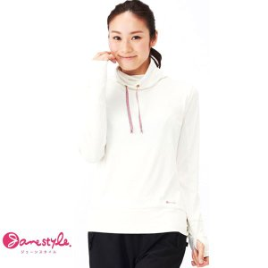 即納可☆ 【Janestyle】ジェーンスタイル レディース ハイネックシャツ フィットネス 軽量 UVカット(js551-16skn) gainabazar