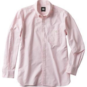 ◆◆ <カンタベリー> CANTERBURY ロングスリーブストレッチボタンダウンシャツ(メンズ) RA48614 (63:ピンク)|gainabazar