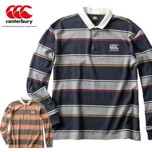 即納可★ 【canterbury】カンタベリー ロングスリーブ ラガーシャツ (メンズ) RA49607|gainabazar