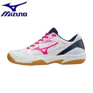 ◆◆ <ミズノ> MIZUNO サイクロンスピード2(バレーボール)[レディース] V1GC1980 (61:ホワイト×ピンク×ネイビー)|gainabazar