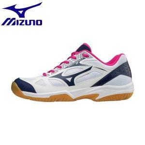 ◆◆ <ミズノ> MIZUNO サイクロンスピード2(バレーボール)[ジュニア] V1GD1910 (14:ホワイト×ネイビー×ピンク)|gainabazar
