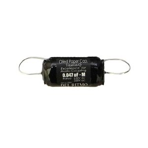DEL RITMO Black candy 0.047uF/630VDC オイルペーパーコンデンサ|gakki-de-genki