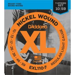 D'addario エレキ弦 EXL110-7(7弦用)【メール便OK】|gakki-de-genki