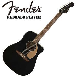 Fender/エレアコ Redondo Player Jetty Black【フェンダー】【正規輸入...