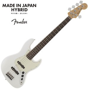 Fender Made in Japan Hybrid Jazz Bass V  Arctic Wh...