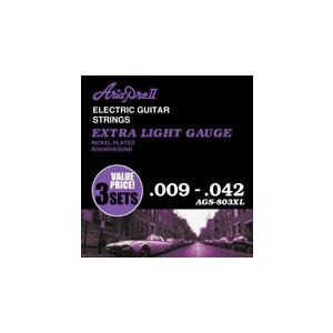 ARIA エレキギター弦 3セットパック/AGS-803XL