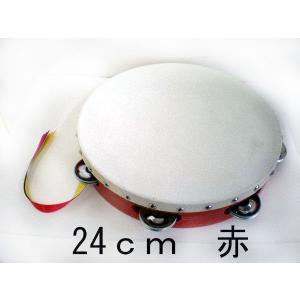 ヤマヨ タンバリン [タンブリン] 24 cm (赤)  タンバリンなら、やっぱり定番ヤマヨのタンバリン]|gakki-mori