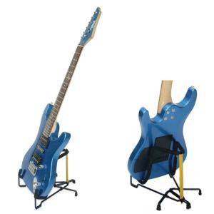 """ワンタッチで畳み込める、ソリッド・ギター用 """"トラベライト"""" スタンド です。ケースのポケットに収め..."""