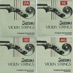 スズキ バイオリン弦  Set  4/4 3/4用、1/2 1/4用、1/8以下用 セット弦|gakki-mori