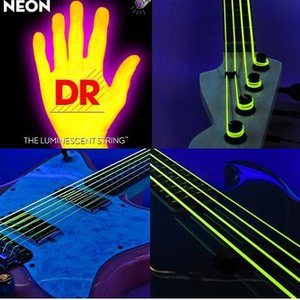 エレキギター弦光る弦エレクトリック・ギター弦ヘックス・コア/K3 イエローNEON YELLOW DR-NYEエレキ弦|gakkidonya3