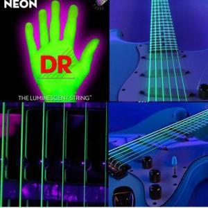 エレキギター弦光る弦エレクトリック・ギター弦ヘックス・コア/K3 グリーンNEON GREEN DR-NGEエレキ弦|gakkidonya3