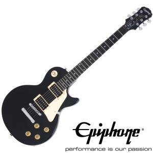 【Epiphone エピフォン】 エレキギター Les Paul-100(LP-100) Ebony Black|gakkiland-thanks