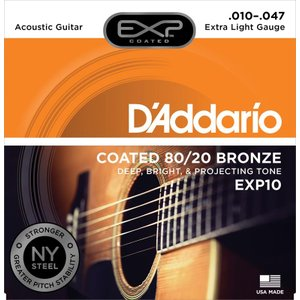 【メール便可!】【ダダリオ アコースティックギター弦】EXP10(EXP10)
